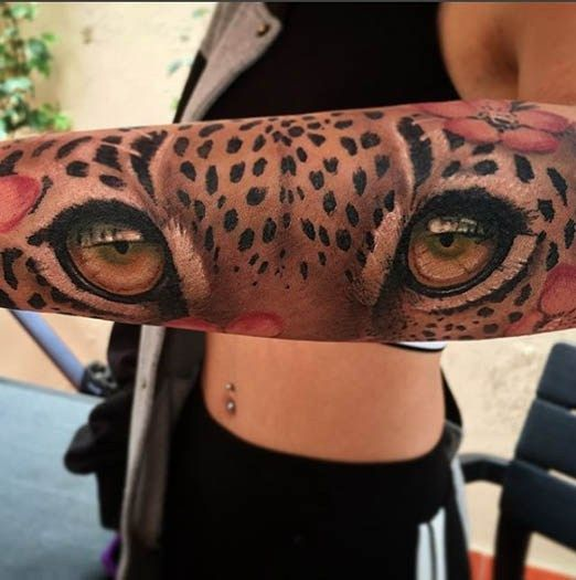 by Andres. @tattoocrazy123 | Tattoos, Leopard tattoos, Animal tattoos