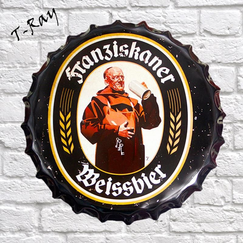 Vintage  German Beer  Bar Advertising Wall Sign