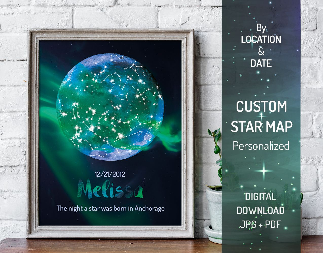 This Night Sky Chart Is Personalized Special For Your Occasion Whether Its Birthday Anniversary Wedding Or St Valentines Day