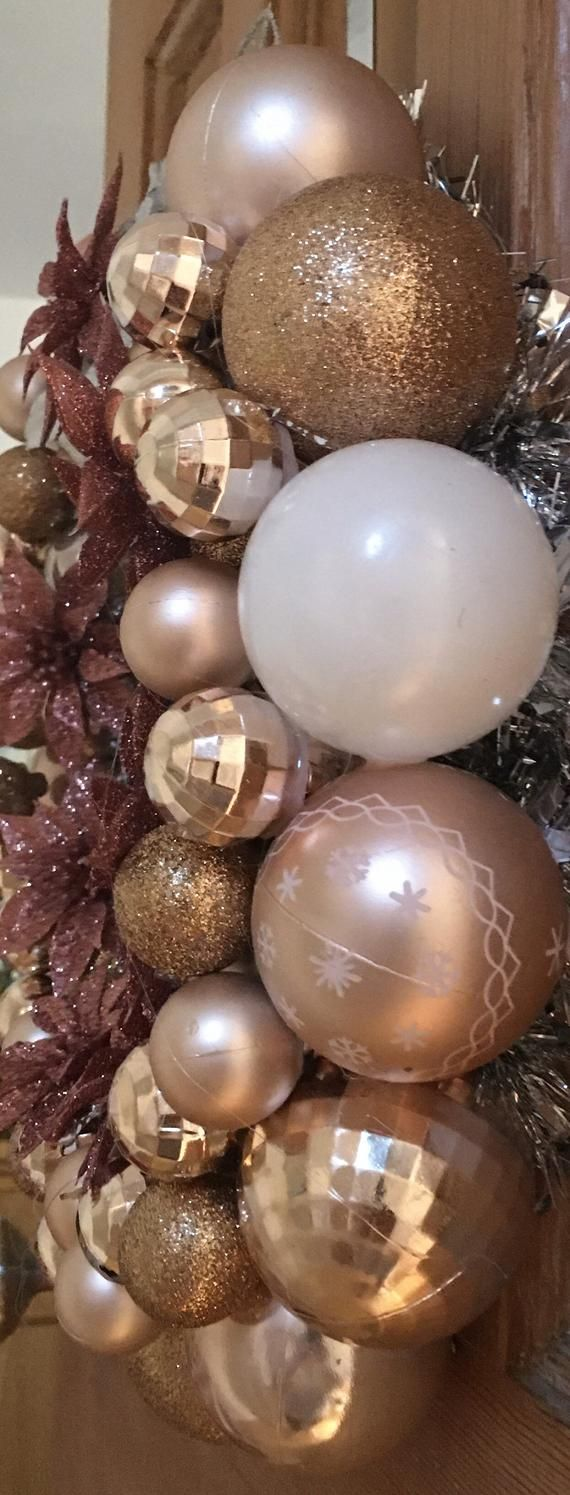 Powder Pink Christmas Bauble Wreath