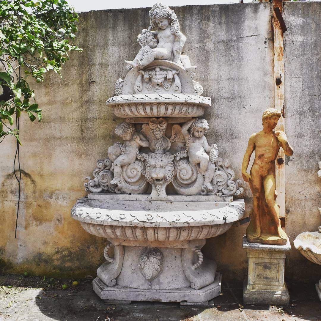 Großartig Wandbrunnen Modern Galerie Von In Romano Travertin Marmor. 320 X 120