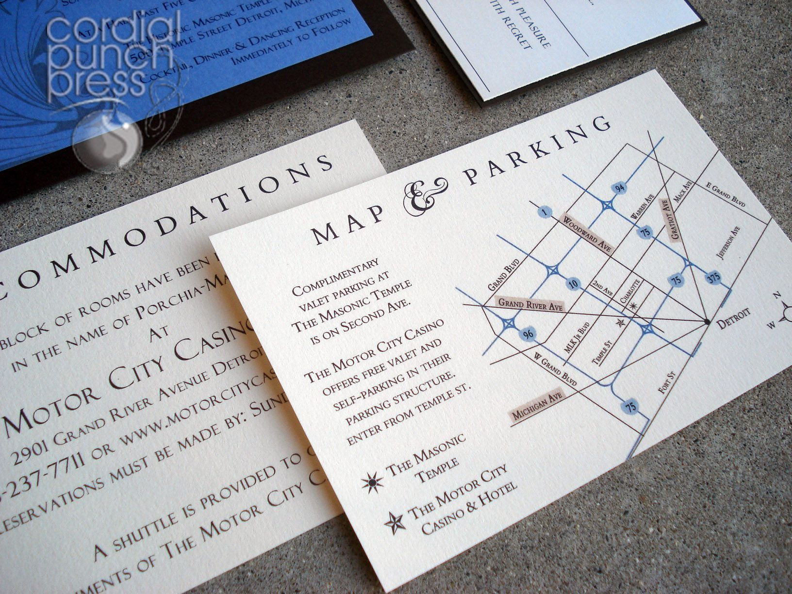 Wedding Invitation Direction Card With Map