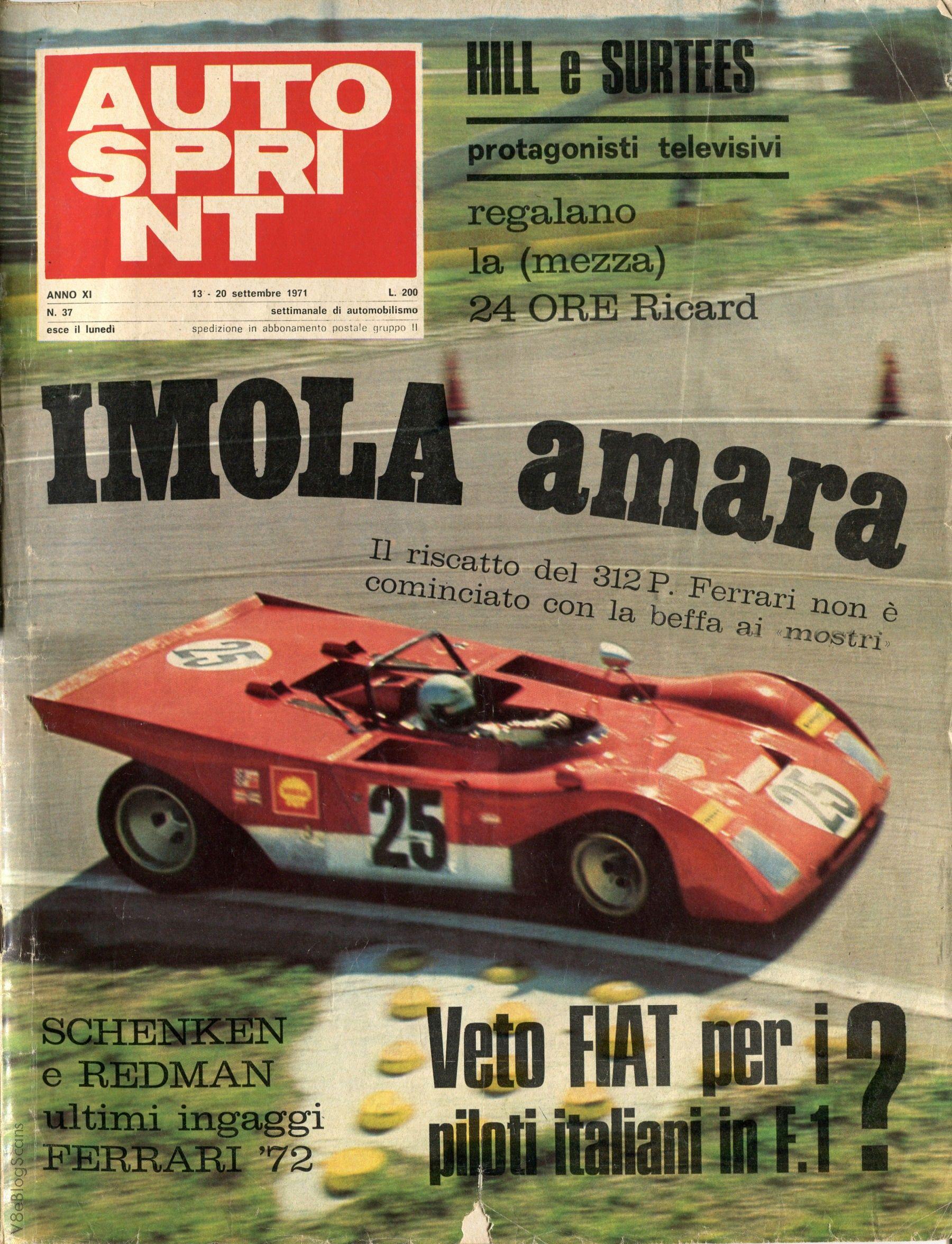 Pin di Sandro Campagna su FERRARI 312PB (1970/71 ...