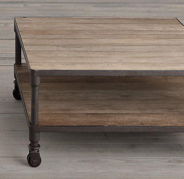 RH: Dutch Industrial Square Coffee Table - RH: Dutch Industrial Square Coffee Table Andrea's House