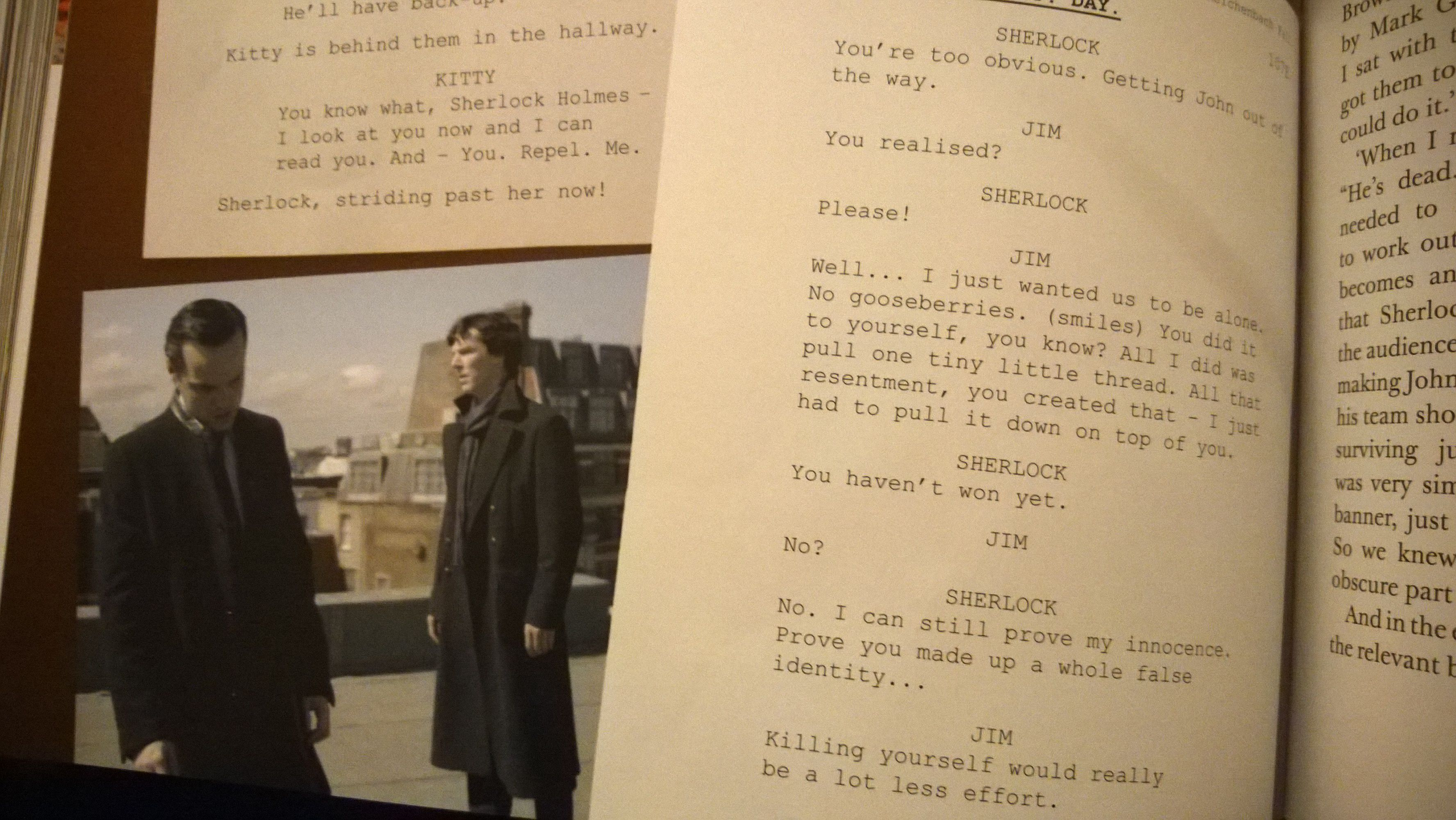Deleted Scene On St Bart S Roof With Jim And Sherlock