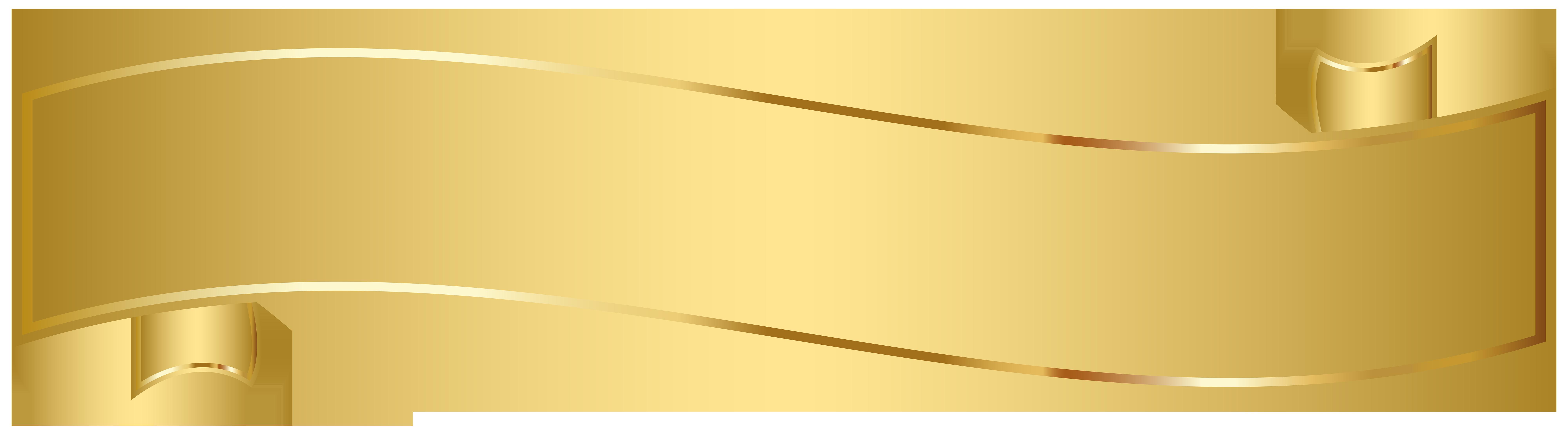 Gold Banner Clip Art PNG Image Arte da sala de crianças