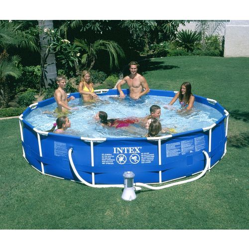 Academy Intex 12 X 30 Round Metal Frame Pool Set Inflatable Swimming Pool Intex In Ground Pools