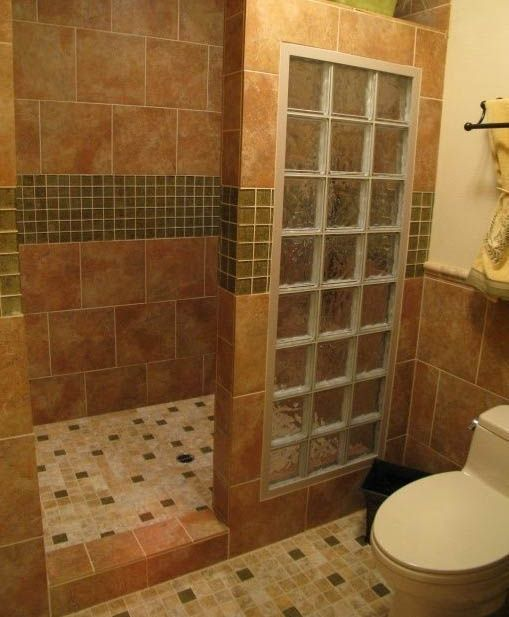 Small bathroom designs with walk in shower bathrooms for Diy master bathroom ideas