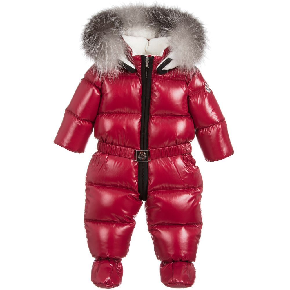 d5118486a521 Red Down Padded ARI Snowsuit
