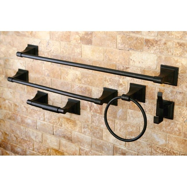 Oil Rubbed Bronze 5Piece Bathroom Accessory Set bathroom