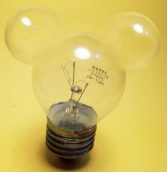 Mickey light bulbs for over the mirror