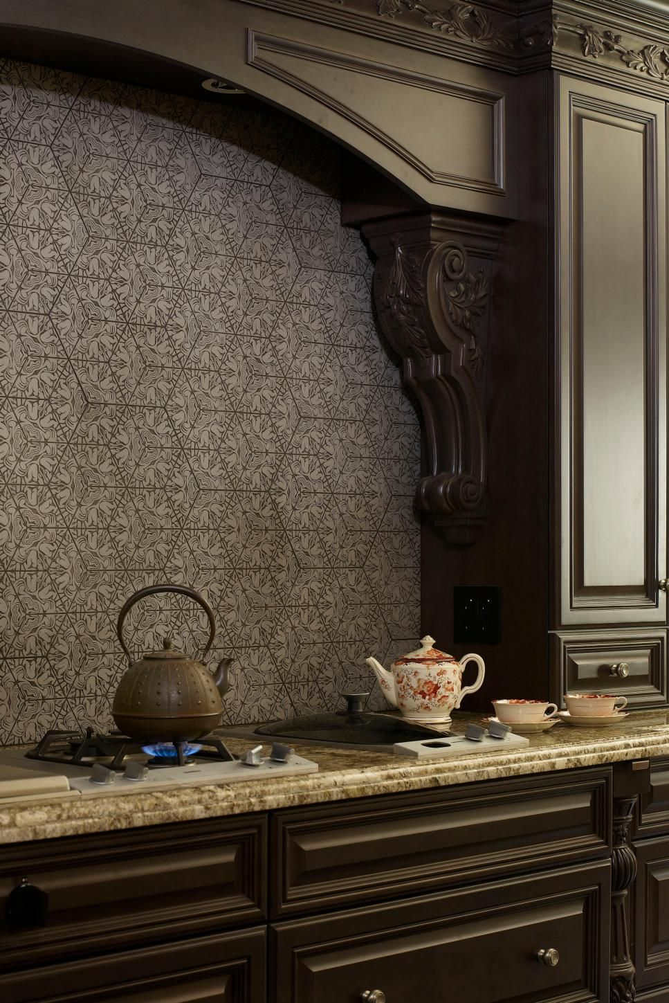 - Stamped Concrete In Rune Pattern For Backsplash? (With Images