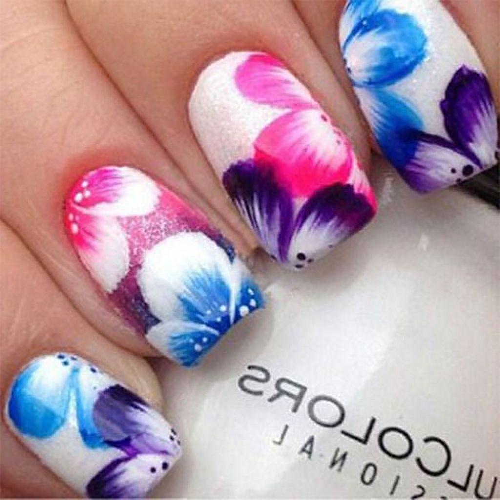 Floral nail art designs cute nail ideas Ιδέες για νύχια pinterest