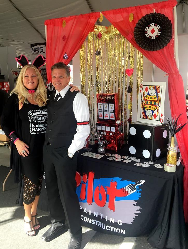 Las Vegas themed tradeshow booth  Las Vegas party theme