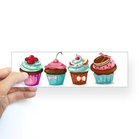 Cupcakes Bumper Bumper Sticker - March 19