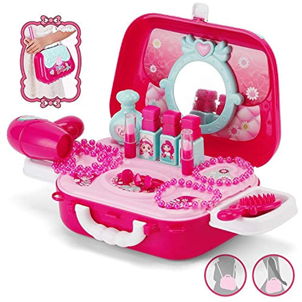 NASHRIO Role Play Kids Jewelry Kit for Girls Pretend Play
