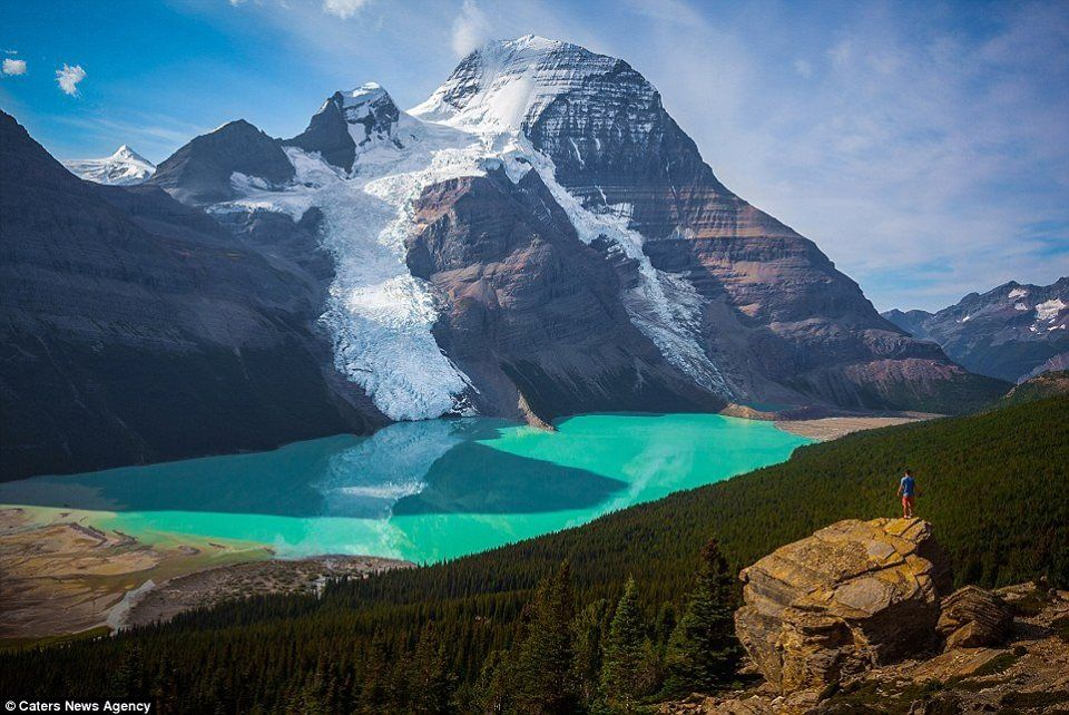 Mount Robson and Berg lake, Canada.