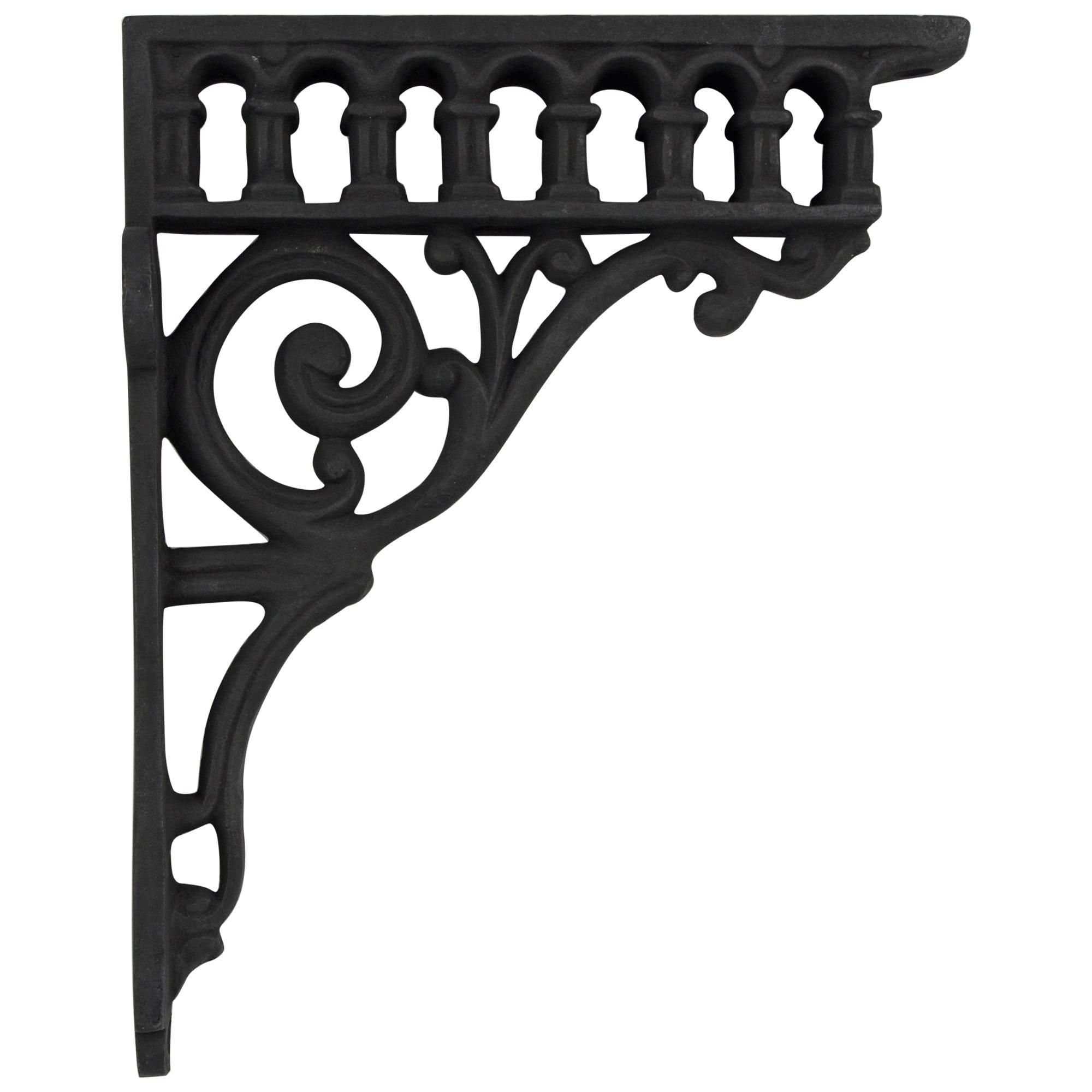 Victorian Aqueduct Antique Replica Cast Iron Shelf Bracket Roman Column Shelf Brackets Iron Shelf Iron Shelf Brackets