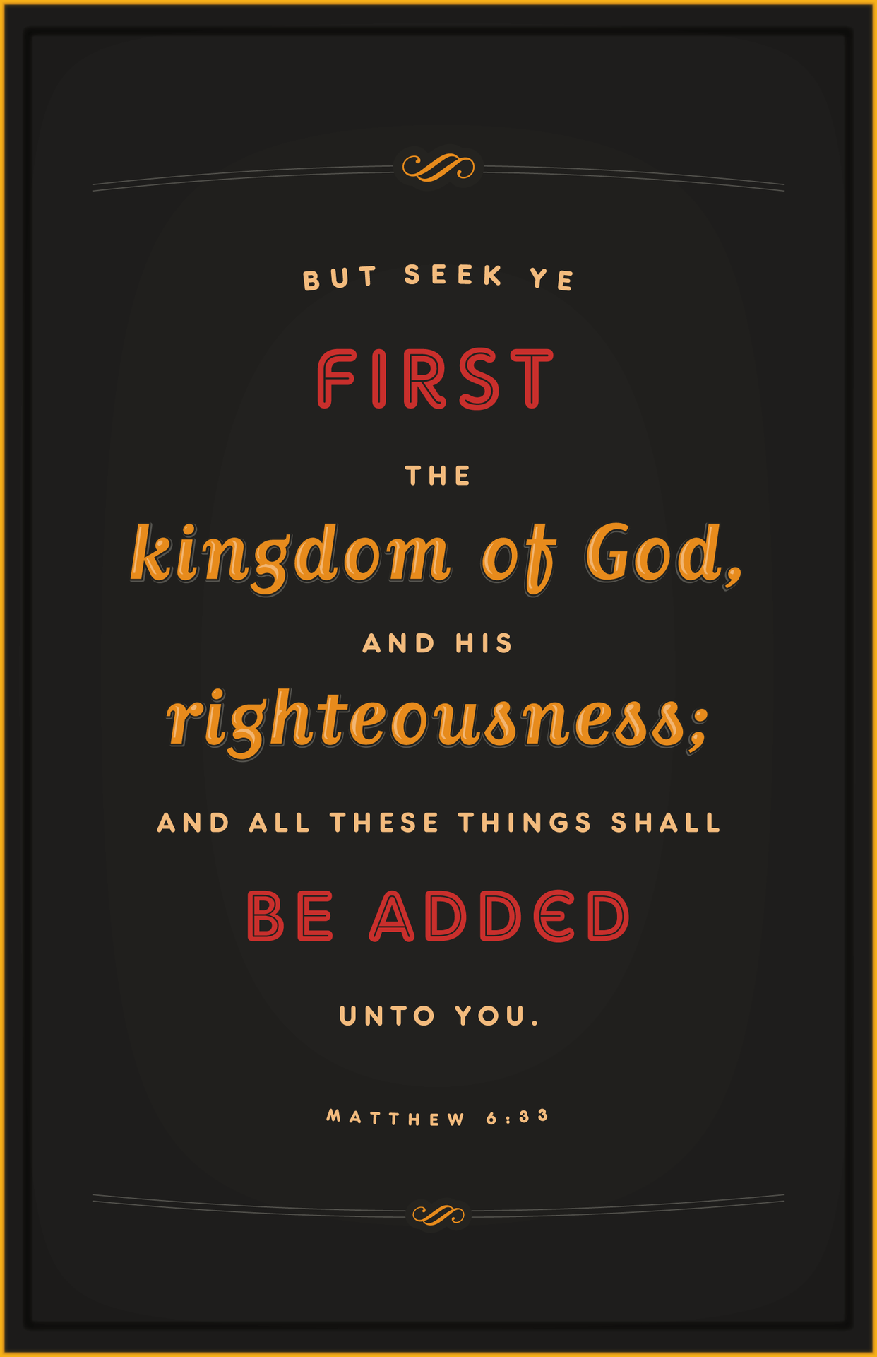 seek ye first the kingdom of god bible verse