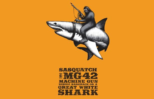 Sasquatch, MG42 Machine Gun, and a Great White Shark T-Shirt Get ...