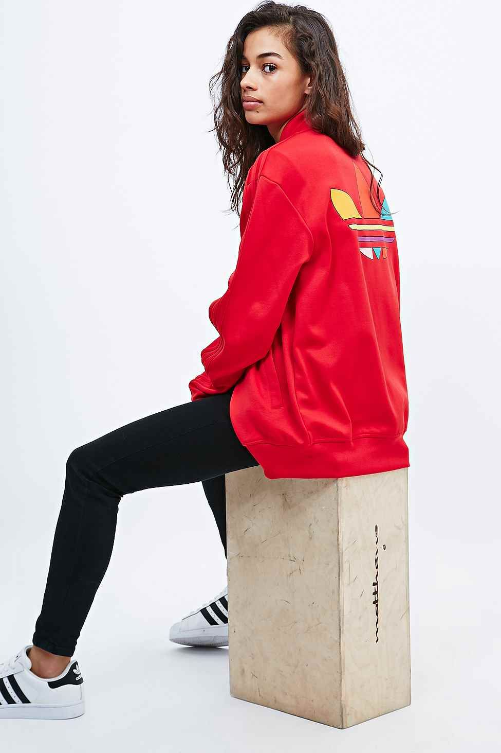adidas X Pharrell Supercolor Track Jacket in Red | Jackets