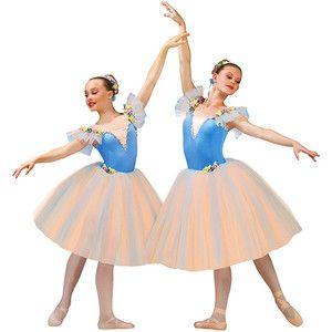 NWT Ballet Dress Velvet Crepe Skirt Silver Braid Child pistachio green Small