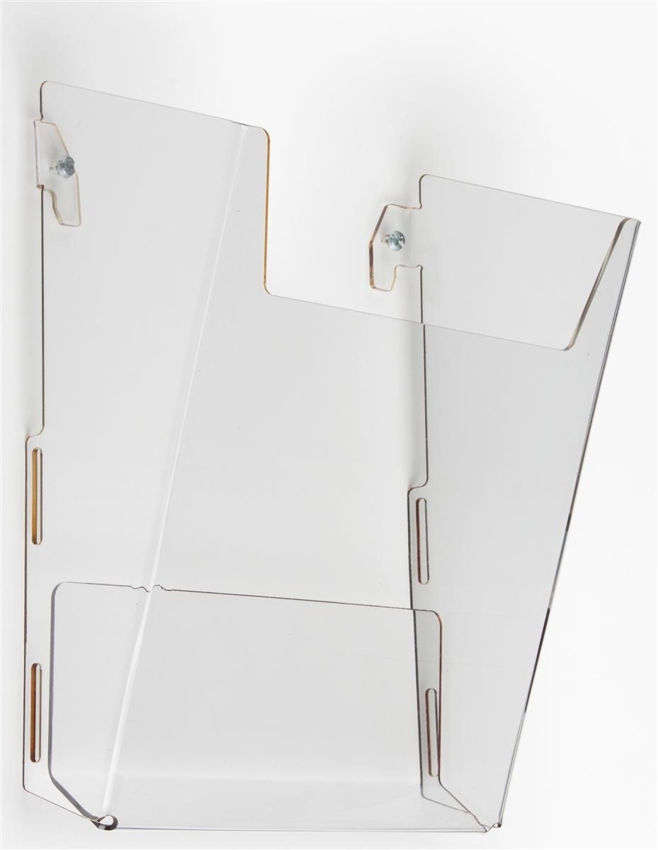 Workshop Series Acrylic Literature Holder For Wall Fits 8