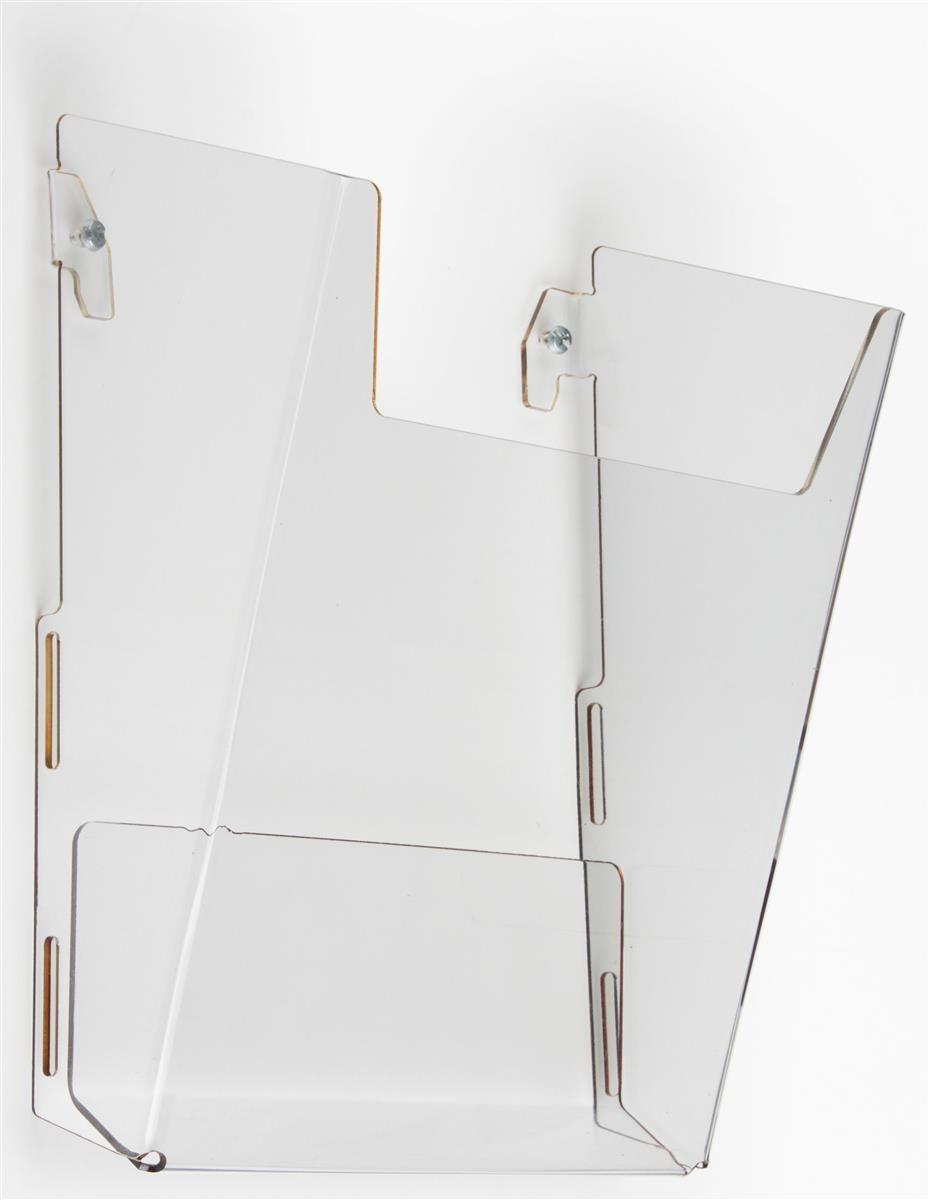 Acrylic Magazine Wall Rack 8 5 W Single Pocket Clear Magazine Wall Wall Racks Wall File Organizer