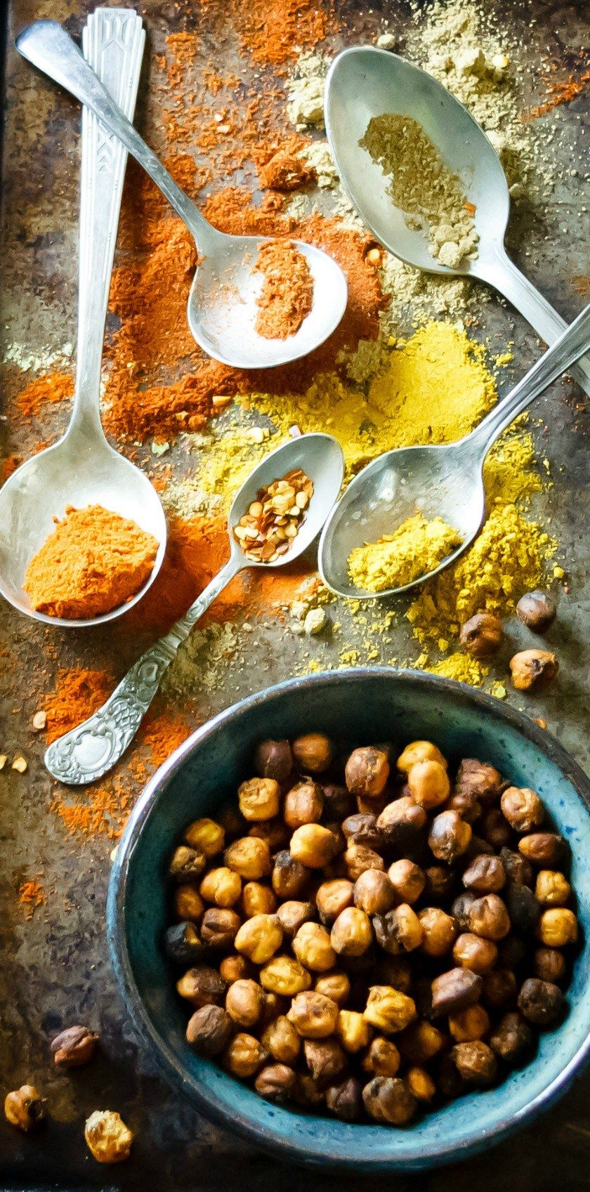 OvenCrispy Indian Spiced Chickpeas Recipe