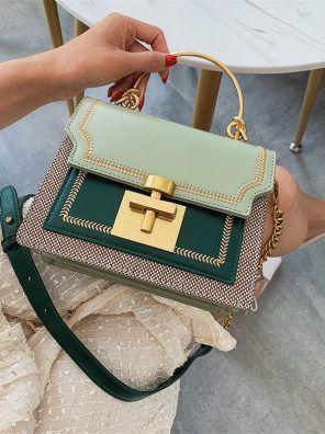 2020 New Fashion Pathwork PU Leather Women Crossbody Bags Vintage Shoulder Messenger Bag Ladies Clutch Casual Totes Female Purse