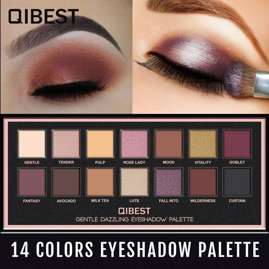 Eye Shadow Heres B2uty Holiday Eyeshadow Palette 12 Color Palette Make Up Palette Pigmented Eye Shadow Matte Eyeshadow Shimmer Eyeshadow Beauty & Health