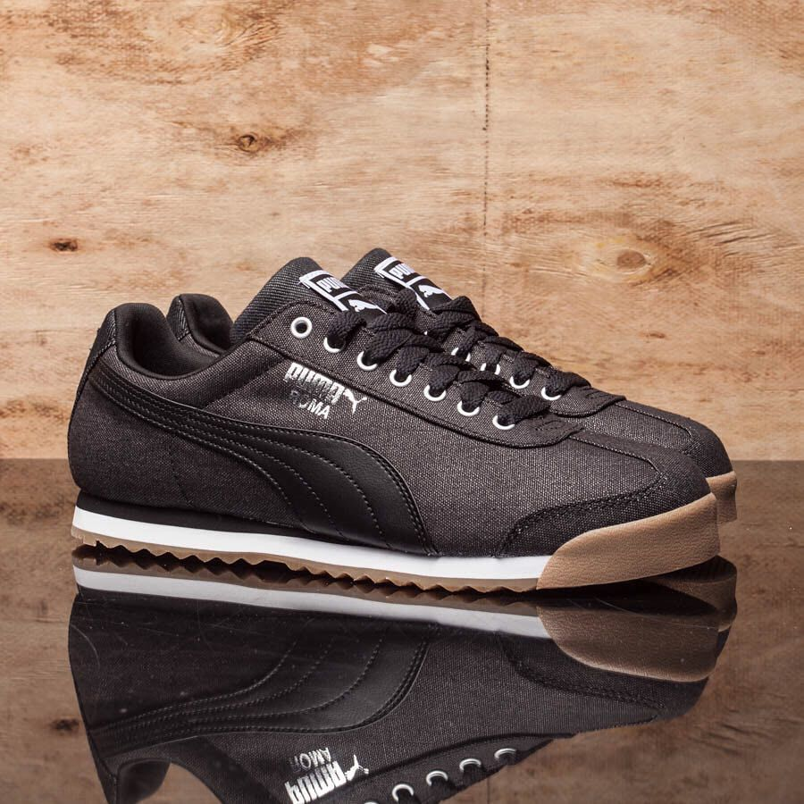 mens puma roma suede athletic shoe