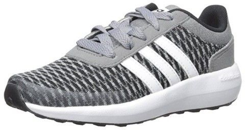 adidas Cloudfoam Race K BlackWhiteGrey 4.5 | Black running