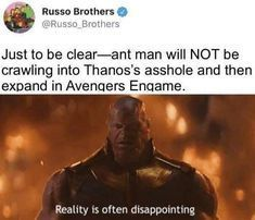 That's lame as hell  #Marvel #AntMan #Twitter #Thanos #Avengers
