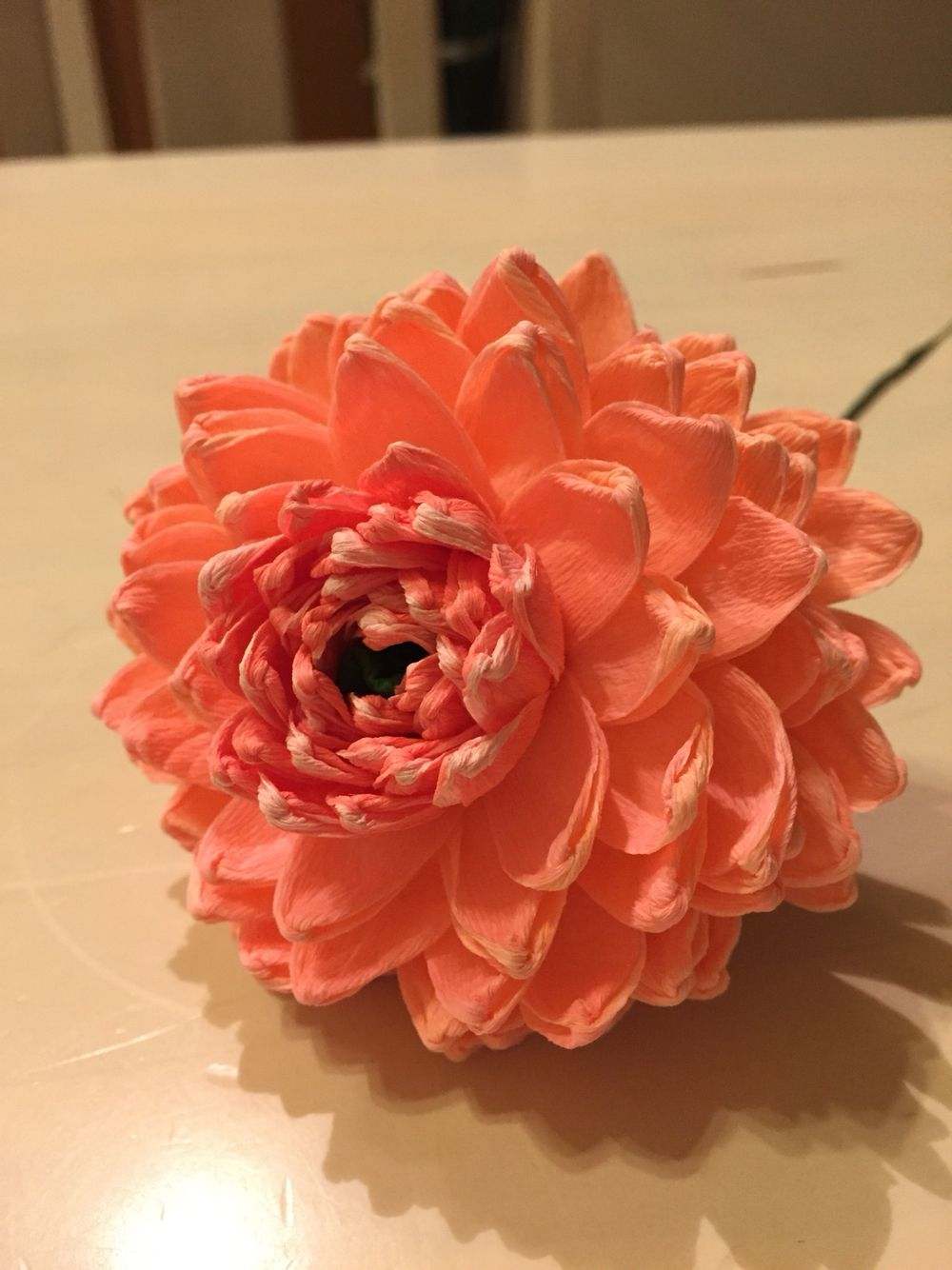 Paper Flower Crepepaperflower Paper Flowers Pinterest