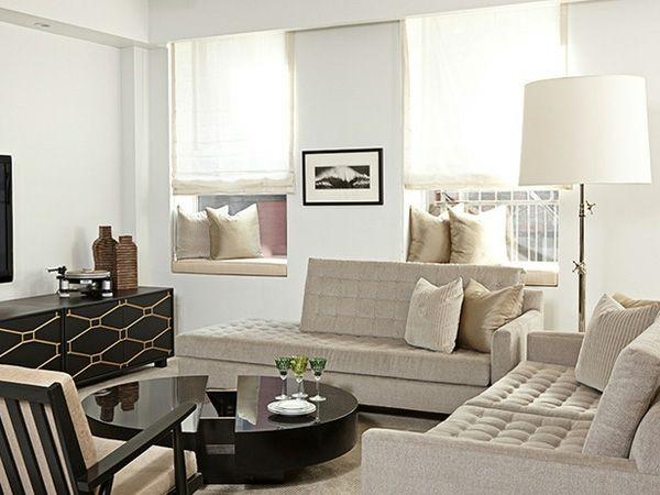 Kleine Räume einrichten ein herrliches Wohnzimmer! BEIGE LIVING - Wohnzimmer Einrichten Grau