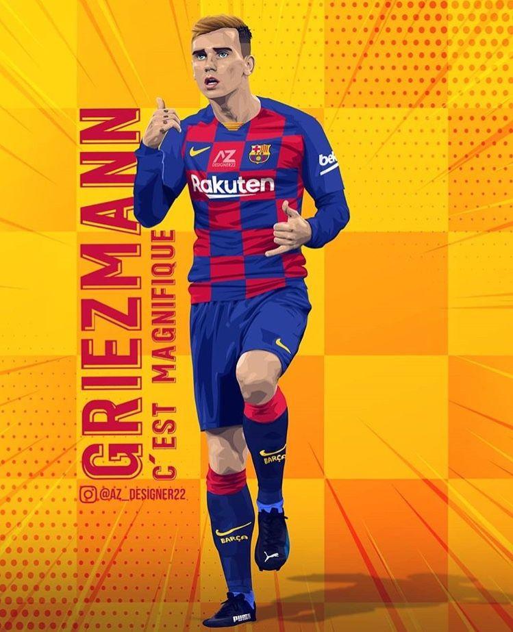 Pin De Chabane Abderrahmane En Barcelone Griezmann Jugador De Futbol Dibujos De Futbol