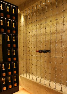 Cable Wine System Wine Cellars By Papro Consulting Wine Closet Wine Shop Interior Wine Rack Design