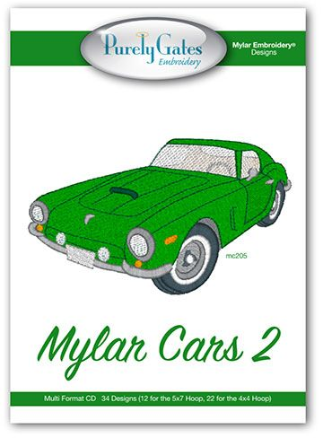 Mylar Cars 2 (With images) | Mylar embroidery, Mylar ...