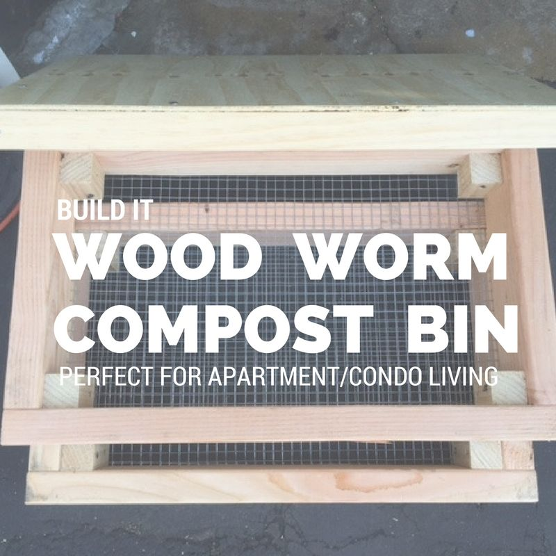 build a wood worm compost bin this weekend