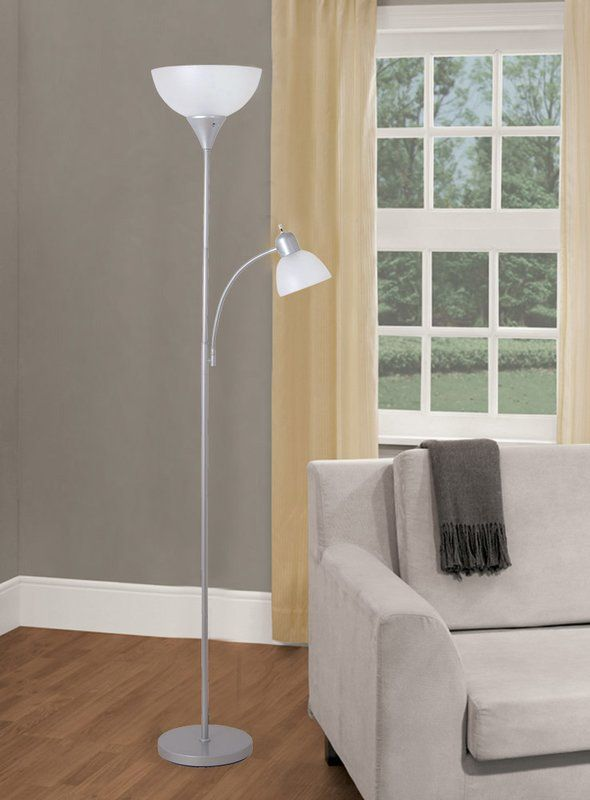 chrome floors led lamp sentry possini pin style floor torchiere euro
