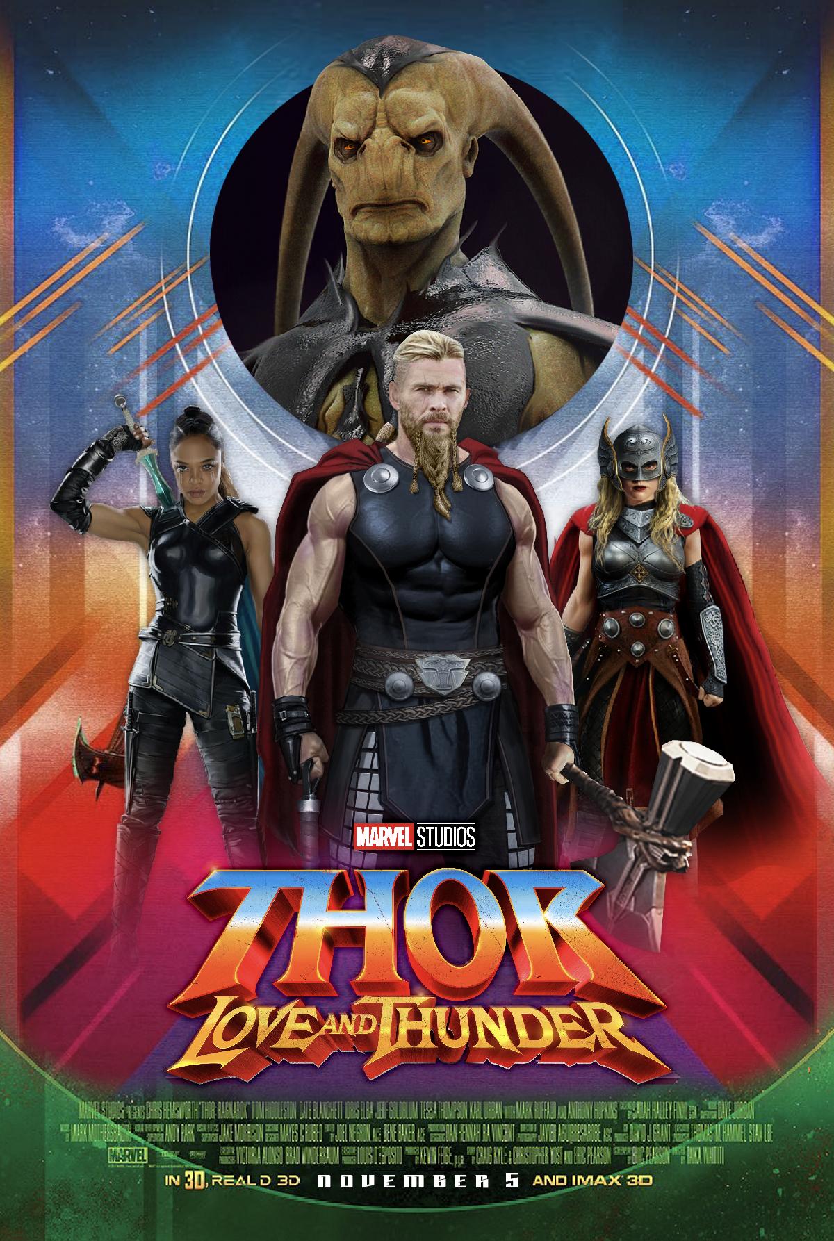 Thor Love And Thunder Poster Concept Imagens Marvel Herois Marvel Marvel Vingadores