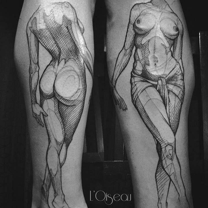Nude taoo women