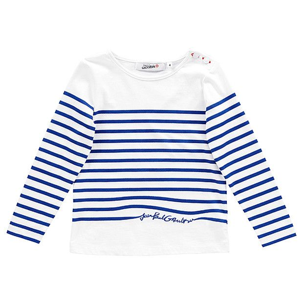 9f0468b80 Jean Paul Gaultier for Target Long Sleeve Stripe T-Shirt Sizes 2-7 ...