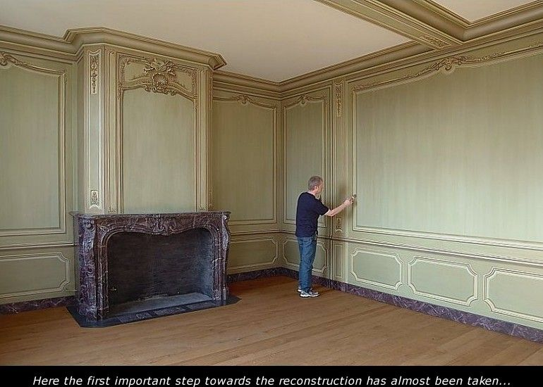 Restorations and historically correct evocations of old paintwork executed by Eddie VAN HOEF.