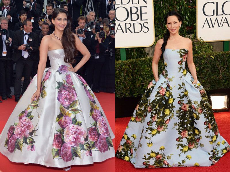 Sonam Kapoor Or Lucy Liu Who Wore It Better dress