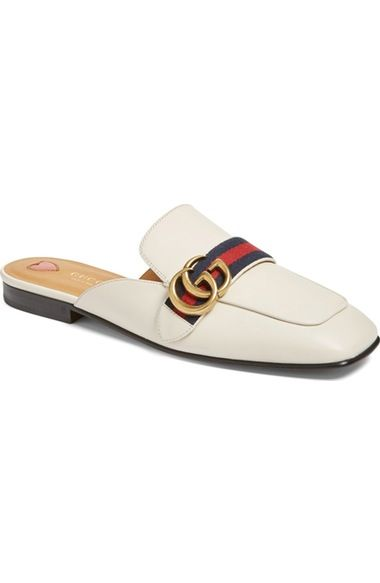 58f57985a6 Gucci Peyton Loafer Mule ... love the square toe! Sapatos