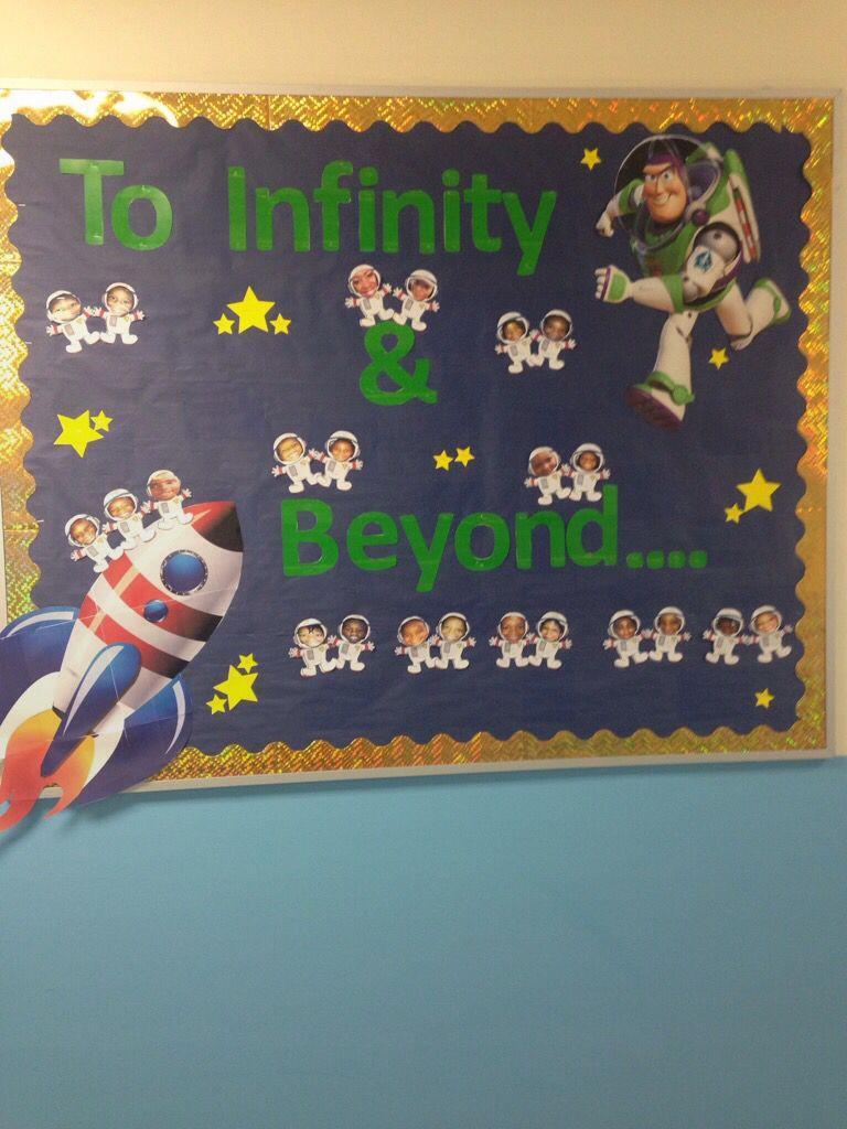 Preschool Bulletin Board For Space Unit Preschool Bulletinboard Prek4 Space Buzzli Preschool Classroom Themes Space Bulletin Boards Space Theme Classroom