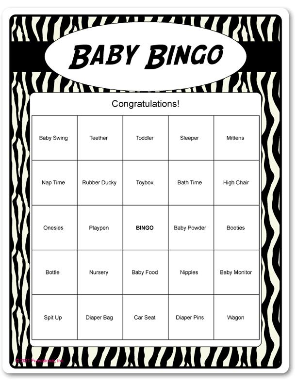 Printable Baby Bingo Animal Prints Black White Baby Shower Candy Bar Game Baby Shower Brunch Baby Shower Printables