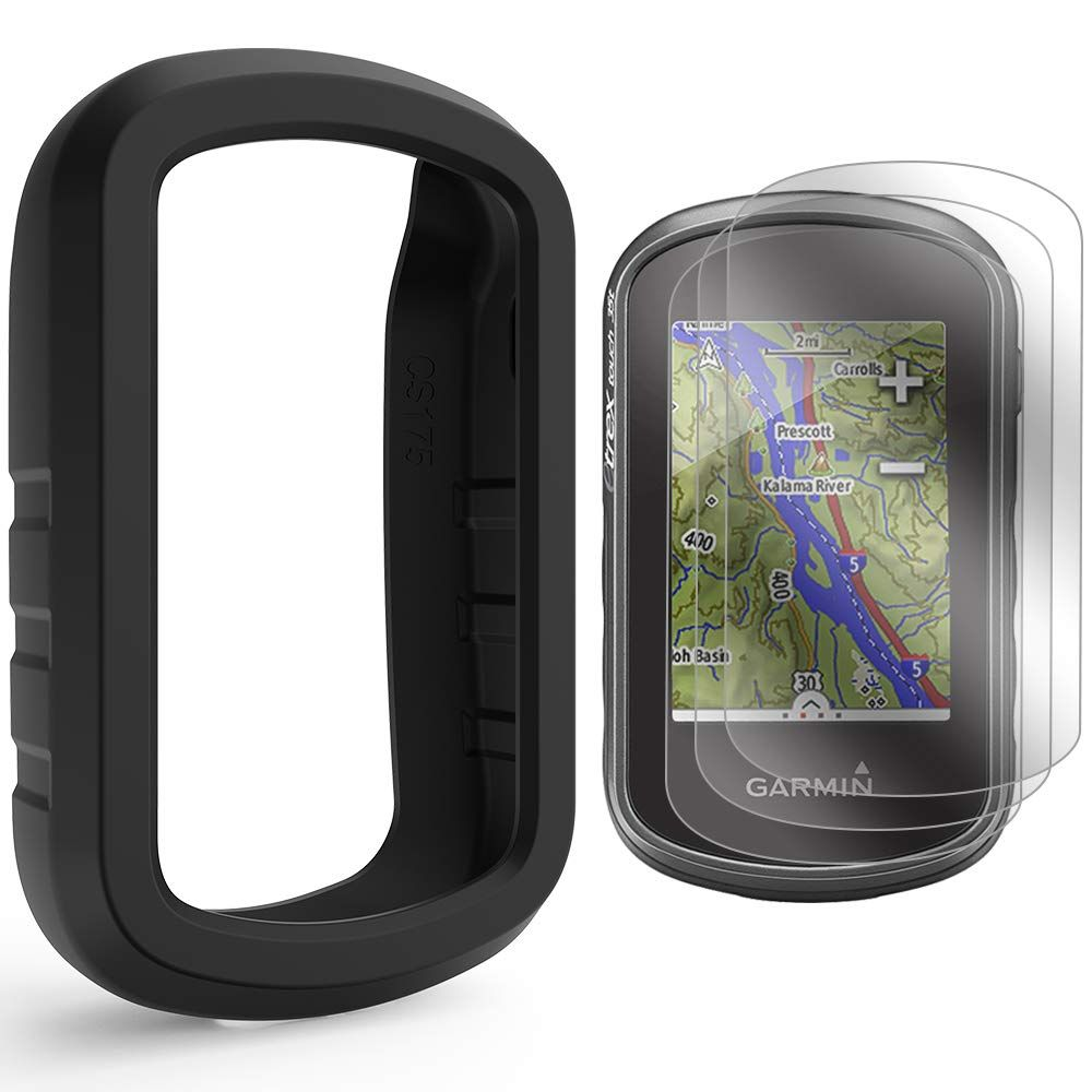 Tusita Case With Screen Protector For Garmin Etrex Touch 25 35 35t Silicone Protective Cover Skin Handheld Gps Navigator Garmin Etrex Gps Screen Protector